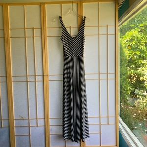 Anthropologie Puella striped maxi dress.
